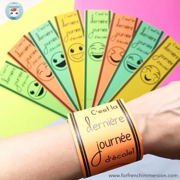 Fin de l'année scolaire | French End of School Year Bracelets | GRATUIT