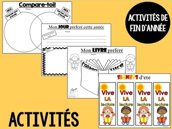 Fin d'année scolaire (Activités et Certificats)  -  French activities & awards