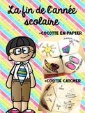 Fin de l'année scolaire Cocotte en papier activité (French End of Year)