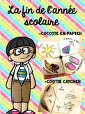 Fin de l'année scolaire Cocotte en papier activité (French
