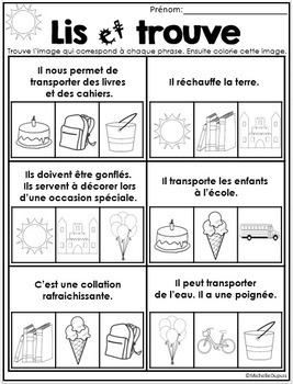 Fin de l'année scolaire Lire et Plaisir - French End of year activities
