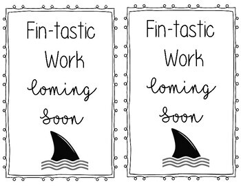 Fin-tastic Work Coming Soon