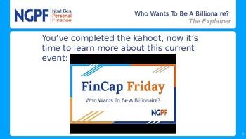 FinCap Friday: Who Wants To Be a Billionare?