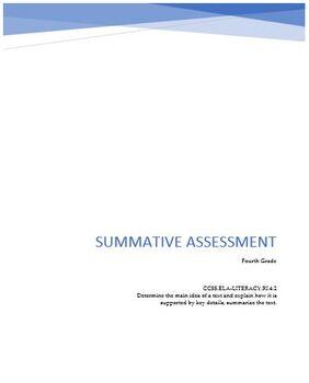 Final Assessment: Main Idea & Supporting Details