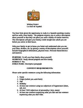 Final Assessment~ Spanish Writing