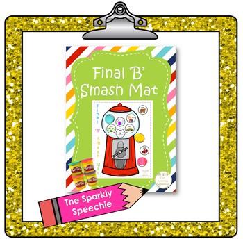 Articulation: Final 'B' Play Dough Smash Mat