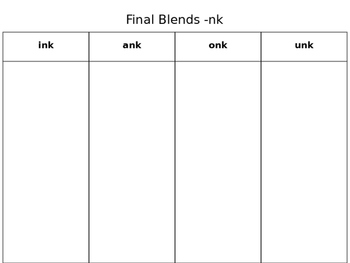Final Blend -NK Cut and Paste Activity