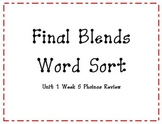 Final Blend Word Sort