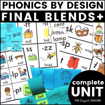 Phonics By Design Final Blends+ Unit BUNDLE