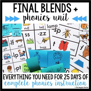 Phonics By Design Final Blends+ Unit BUNDLE