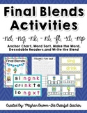 Final Blends Activities (-nd, -ng, -nk, -nt, ft, -xt, -mp)