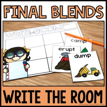 Final Blends Activity Write the Room