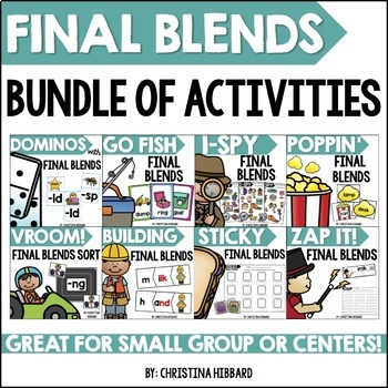 Final Blends Bundle of Activities