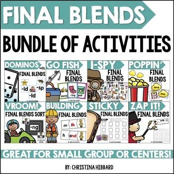 Final Blends Bundle of Activities