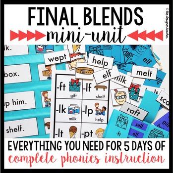 Phonics By Design Final Blends FT, LF, LK, LP, LT, & PT Mini-Unit