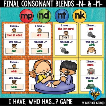 Final Blends Game: I have, who has (mp, nk, nd, nt)