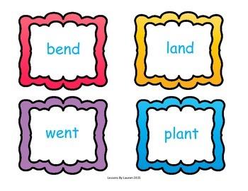 Final (Ending) Blends - matching activity