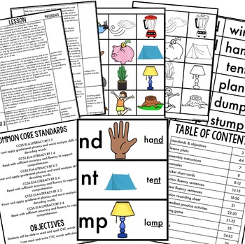 Phonics By Design Final Blends ND, NT, & MP Mini-Unit