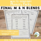 Final M and N Blends Orton-Gillingham Level 1 Multisensory Phonics Activities