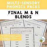 Final M and N Blends Orton-Gillingham Level 1 Multisensory