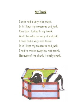 Final Blends Poem: My Trunk