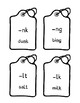 Final Blends Printable Flashcards in Dyslexie Font!