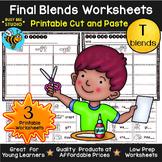Final Blends Sort (-ct, -ft, -pt) | Cut and Paste Worksheets