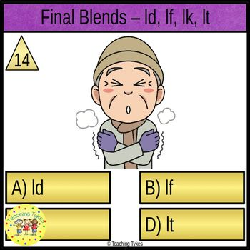 Final Blends Task Cards ld lf lk lt