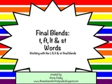 Final Blends: T, FT, ST & LT Word Study Sort and Activities