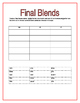 Final Blends Word Sorts