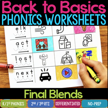 Final Blends Worksheets & Activities (No-Prep Phonics Worksheets)
