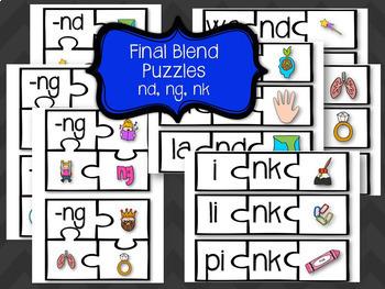 Phonics Stations - Final Blends
