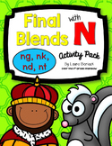 Final Blends with N ng, nk, nd, nt Activity Pack