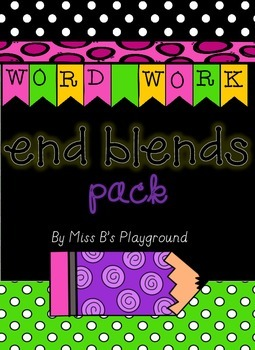 Final Blends/End Blends Spelling Pack