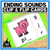 CVC Words Final Sounds Clip Cards Center