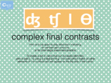 Final Complex Consonant Contrasts Cards for Matching Games