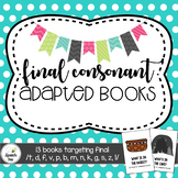 #stockupsale Final Consonant Adapted Books for Speech Therapy