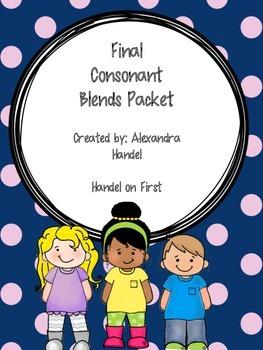 Final Consonant Blends Packet