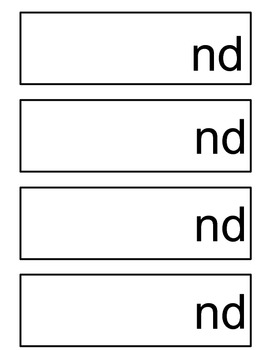 Final Consonant Blend -nd and -nt flipbook