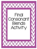 Final Consonant Blends Activity