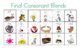 Final Consonant Blends Chart