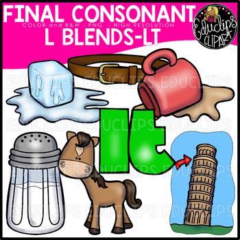 Final Consonant Blends L- Clip Art Bundle {Educlips Clipart}