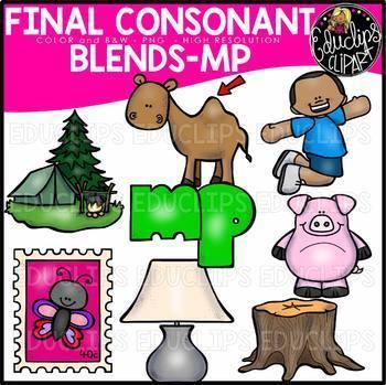 Final Consonant Blends N- & MP Clip Art Bundle {Educlips Clipart}