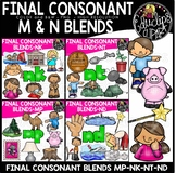 Final Consonant Blends N- & MP Clip Art Bundle {Educlips Clipart}
