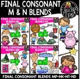Final Consonant Blends N- & MP Clip Art Sets {Educlips Clipart}