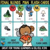 Final Blends Flash Cards (-nt -nd -nk -mp)