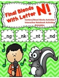 Ending Blends letter N (NG, NK, NT, ND)-with Picture Cards