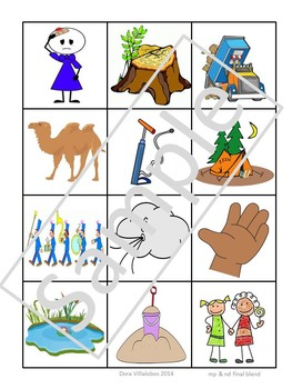 Final Consonant Blends Picture Sorts