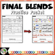 Final Consonant Blends Practice Packet