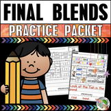 Final Consonant Blends Practice Packet